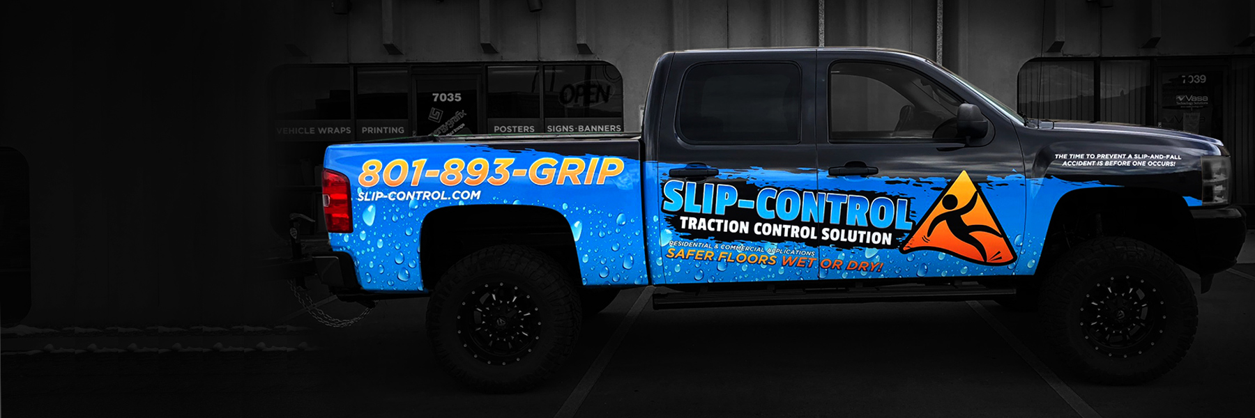 Utah Vehicle Wraps - Slip Control Truck